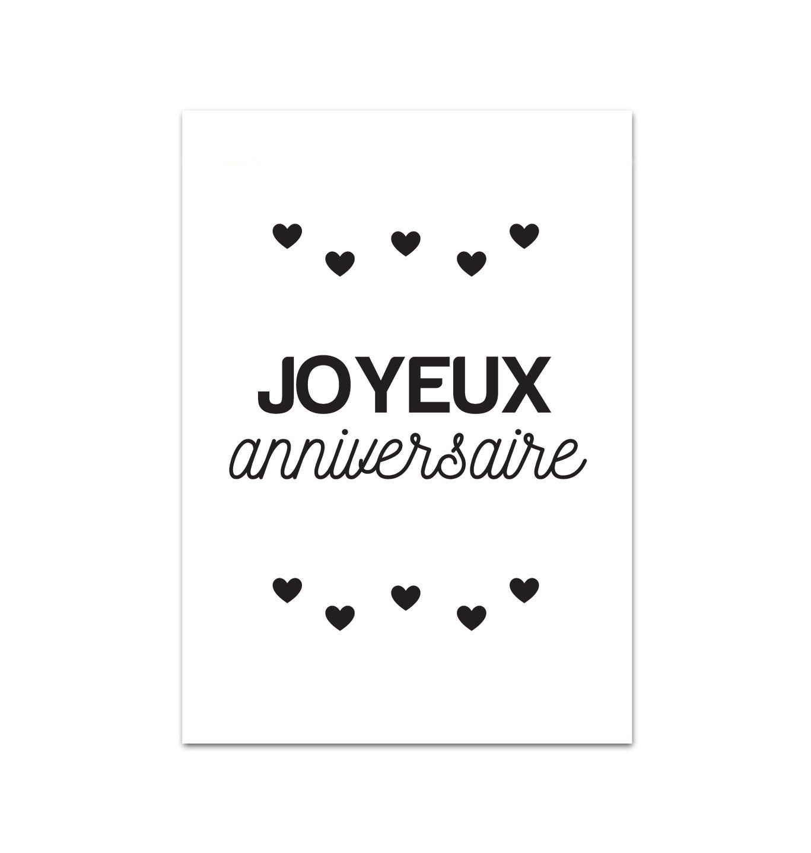 Populaire Carte Joyeux anniversaire - A6 : Affiches, illustrations, posters  YZ11