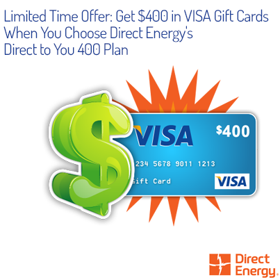 Sign Up Or Switch To Direct Energy And Receive 400 In Visa Gift Cards When You Sign Up For Our Direct To You 400 Plan Visa Gift Card Gift Card Sweepstakes