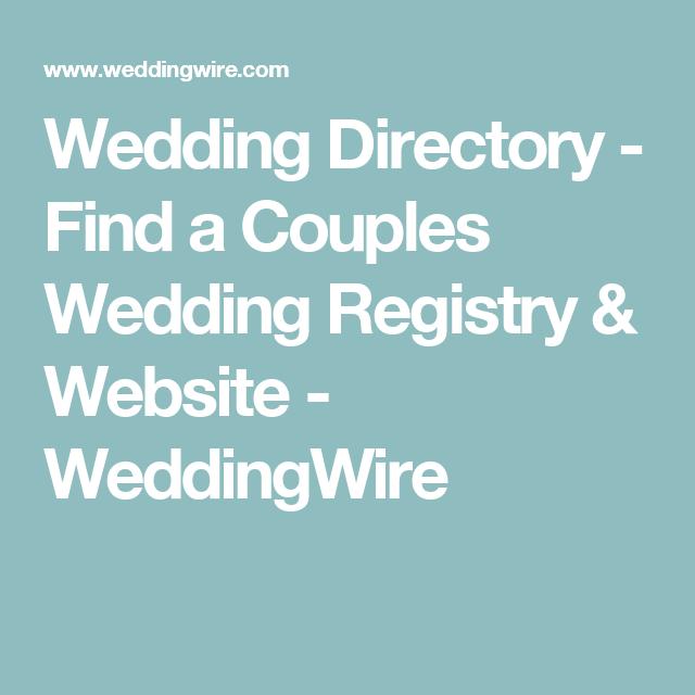 Wedding directory find a couples wedding registry website wedding directory find a couples wedding website registry and more with the wedding wire wedding directory junglespirit Gallery