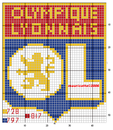 Sport Football Lion Point De Croix Cross Stitch