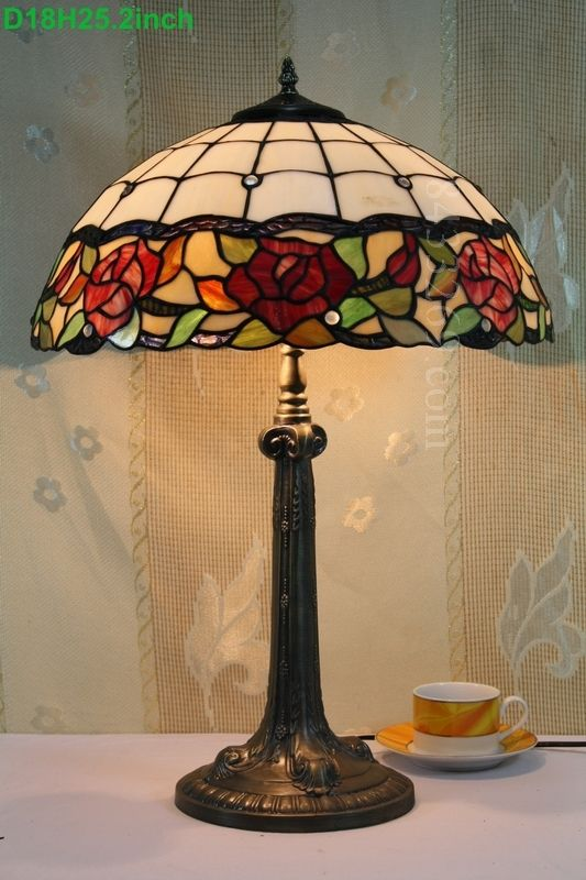Rose Tiffany Lamp 18s0 51t410 Stained Glass Lamp Shades