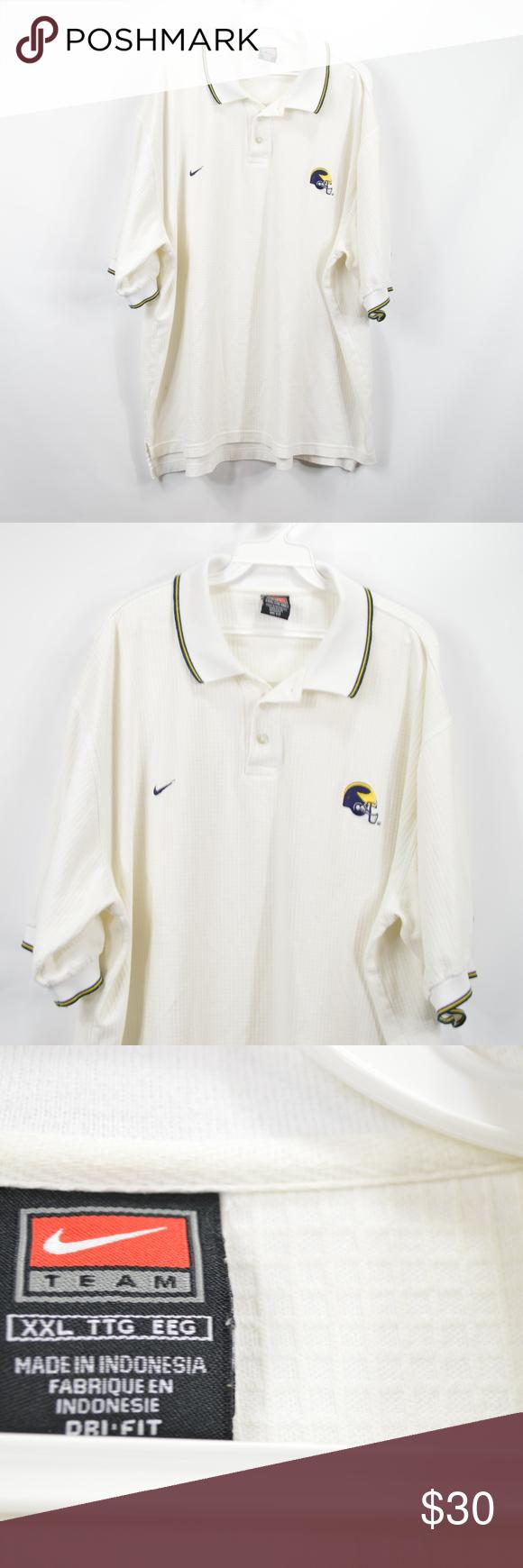 Vintage Nike Mens Michigan Wolverines Golf Shirt Vintage Nike Golf Shirts Nike Men