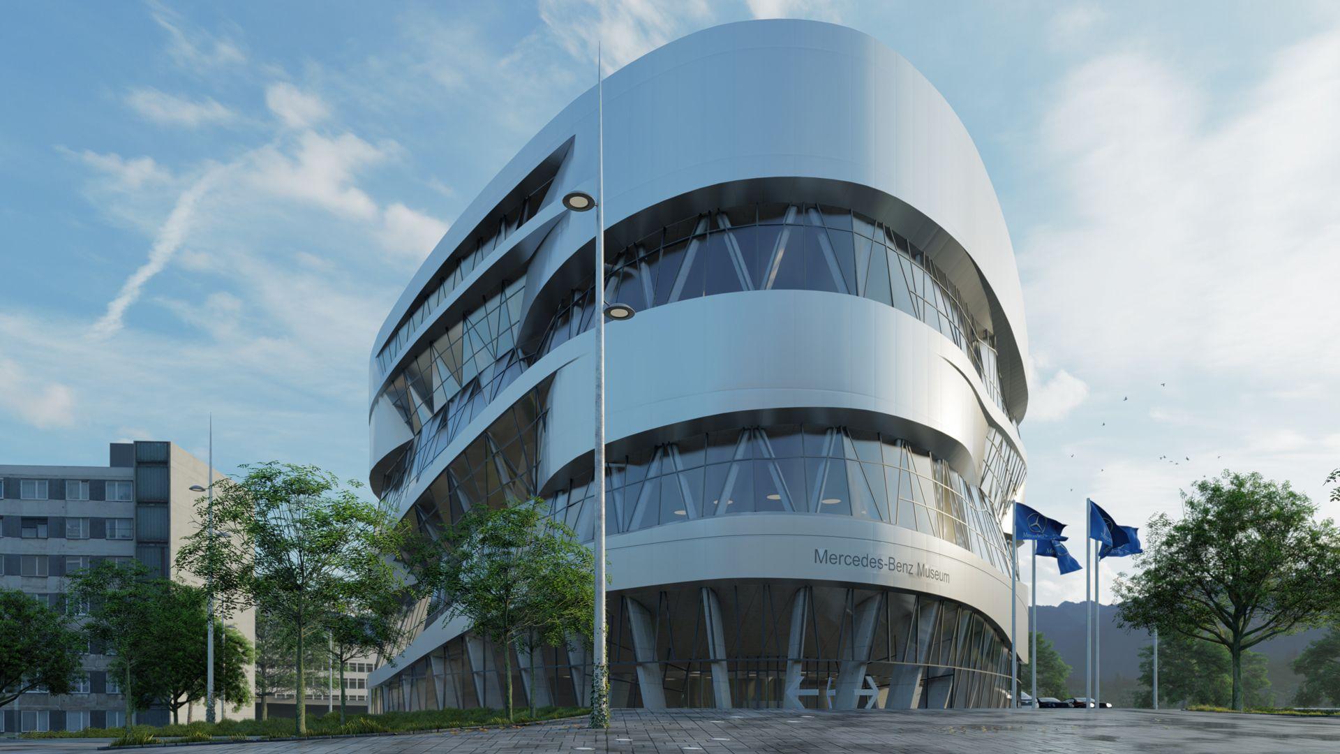 Mercedes Benz Museum In Stuttgart Architecture Model Space Architecture Commercial Architecture