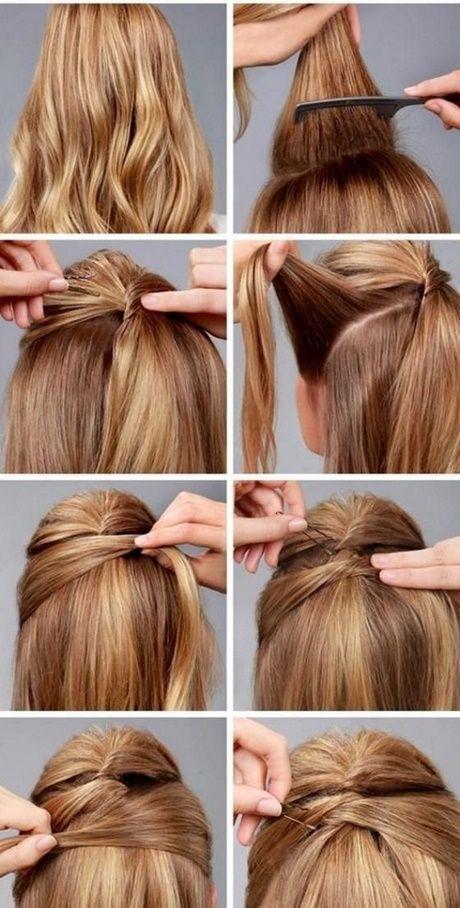 Peinados para cabello largo liso semirecogido paso a paso peinados