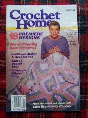 Crochet Home Book 41 June July 1994 Vanna White Crocheting Crochet