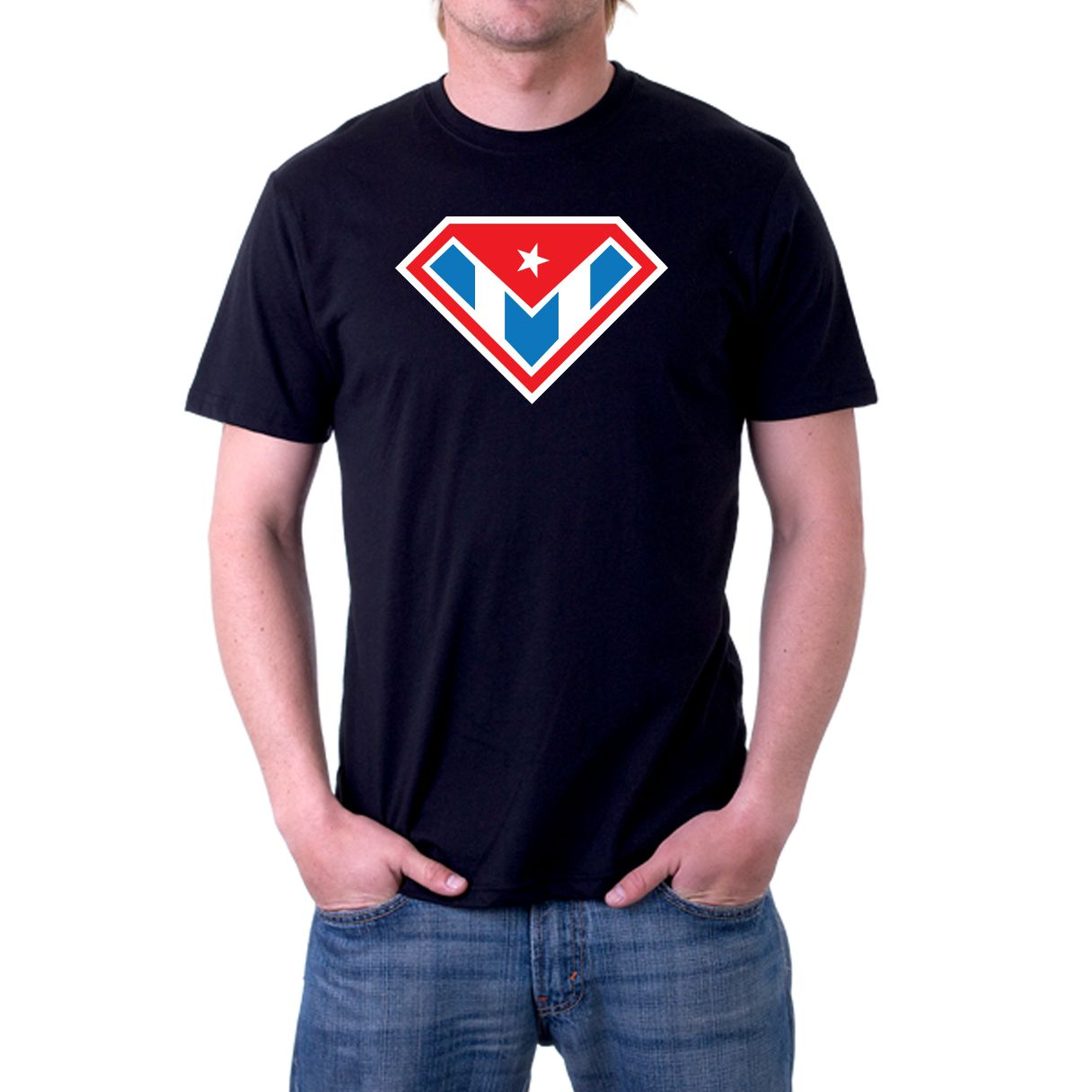 A graphic tee featuring a high quality commercial grade printing, superman parody with the cuban flag on his chest. Unisex Adult T-shirt. All our shirts are high quality, 100% cotton    This t-shirt is part of our ★ ★ ★ ★ COMICS  COLLECTION ★ ★ ★ ★     ========================  T-SHIRT AVAILABLE ...