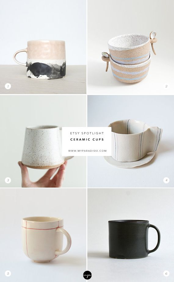 ETSY SPOTLIGHT: Ceramic cups #ceramicmugs