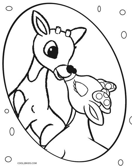 Printable Rudolph Coloring Pages For Kids  Cool2bKids  Cookie