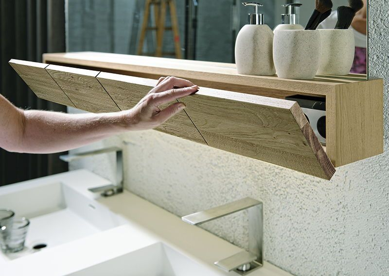 Regal Und Schrank Zugleich Diese Tolle Waschbecken Ablage Sieht Nicht Nur Schick Aus Sondern Ist Auch Noch Extrem Pra Badezimmer Ablage Badezimmer Ablage Bad