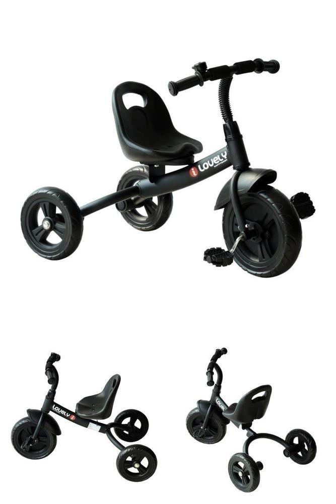 9dd4b4f4998 Kids Trike Bike Black Pedal Ride On Bicycle 3 Wheels Child Toddler Tricycle  Gift #KidsTrikeBike
