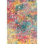 JONATHAN Y Contemporary Pop Modern Abstract Multi/Yellow 3 ft. x 5 ft. Area Rug-CTP108A-3 – The Home Depot