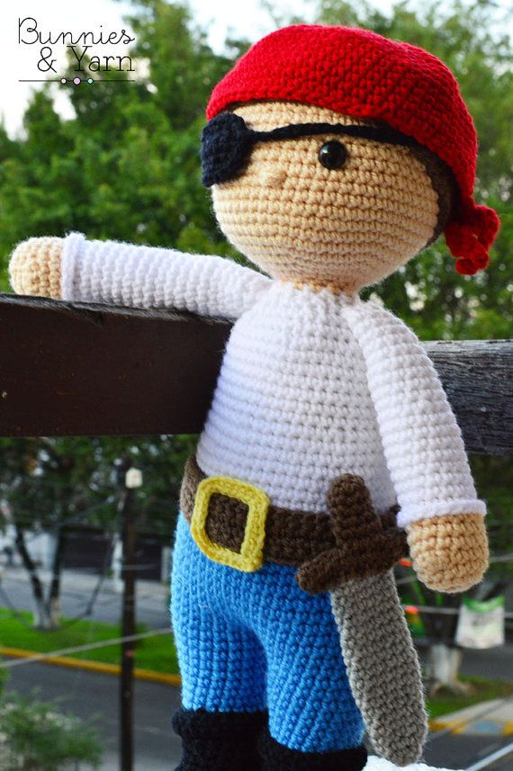 Crochet Pattern In English Ben The Friendly Pirate 18 In45 Cm