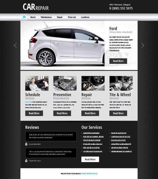 Free Website Template - Car/Auto Project #webdesign http://www ...