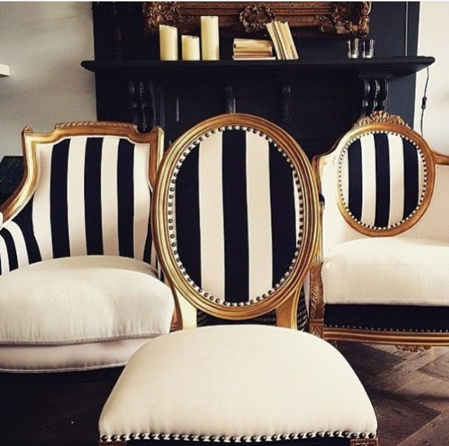 Explore Black And White Chair and more! - Lavish Livings Cheers For Chairs! Pinterest Upholstery, Room