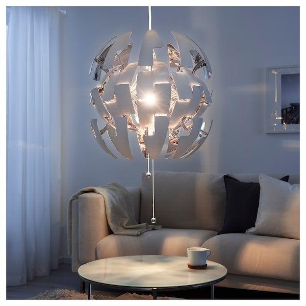 IKEA PS 2014 white, silver colour, Pendant lamp, 52 cm