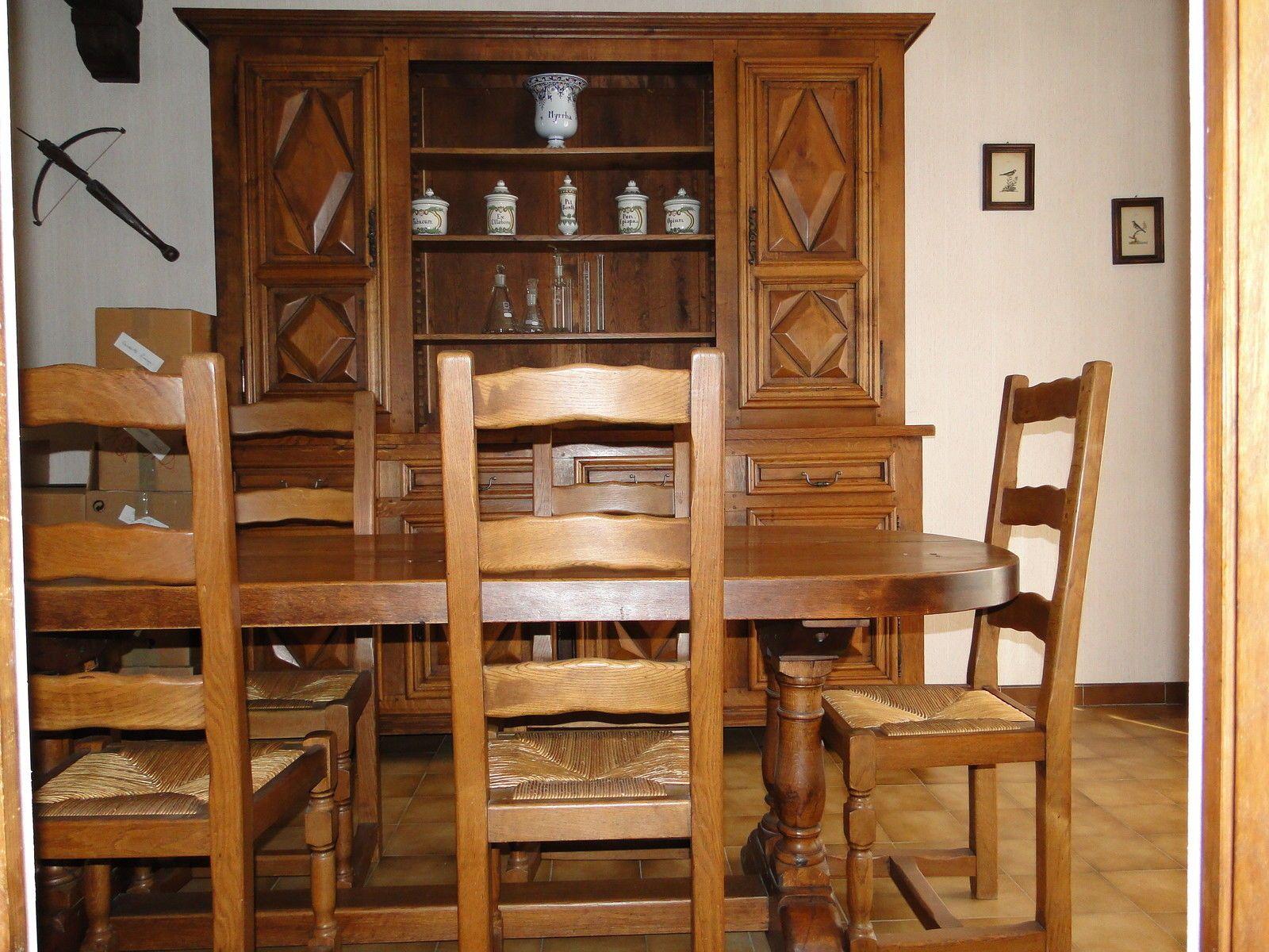 Salle Manger Compl Te Louis Xiii In Maison Meubles Tables  # Meubles Maison