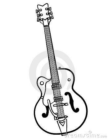 Linea Ilustracion De La Guitarra Electrica Del Arte Guitarra Electrica Guitarras Electrica