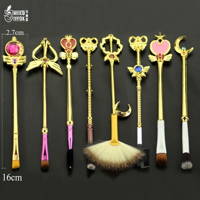 Photo of US $22.0  Free Shipping Anime Jewelry Sailor Moon Makeup Cosmetic Brush Set Pincel Maquiagem Golden Metal Moon With Crystal Women Gifts moon jewelry moon sailormoon women – AliExpress