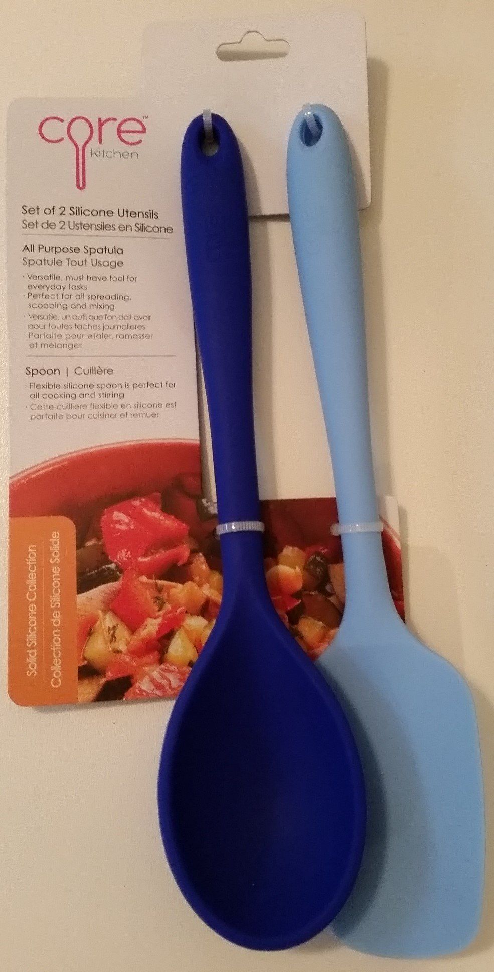 Core Kitchen Set Of 2 Solid Silicone Utensils All Purpose Spatula Spoon Blue Visit The Image Link More Details