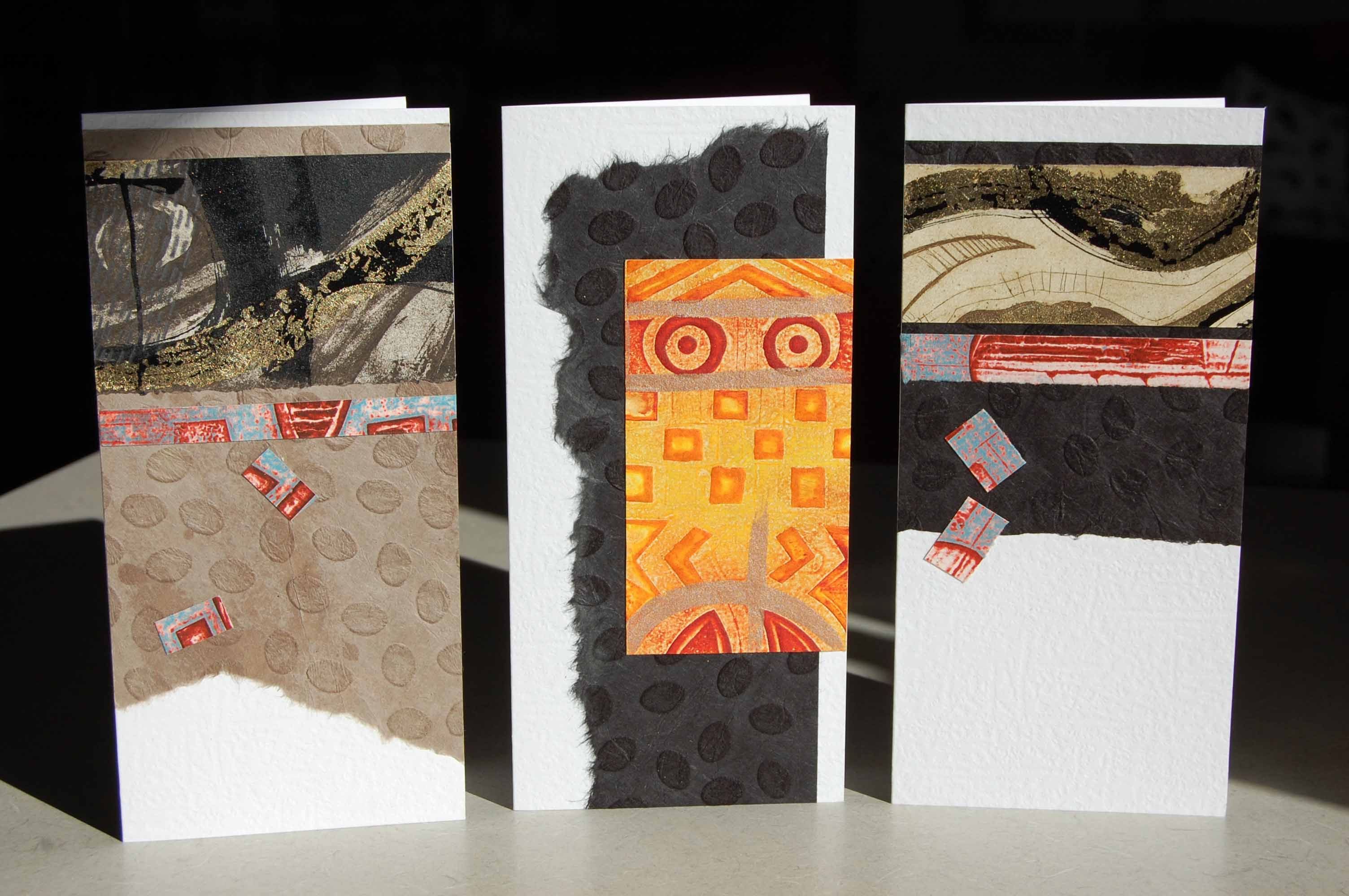 Making cards out of print scraps... Steph Houstein, 2014