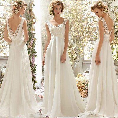Hochzeitskleid Brautkleid Kleid Braut Ballkleid Abendkleid Weiß Creme Neu Bc275 Ebay Hochzeitskleider Vintage Brautkleid Spitze Chiffon Hochzeitskleid