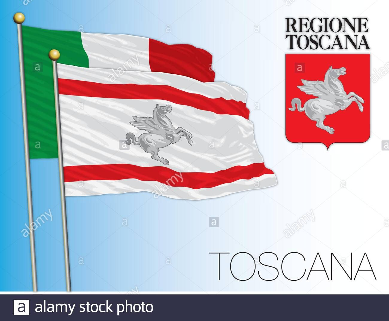 Download This Stock Vector Tuscany Official Regional Flag And Coat Of Arms Italy Vector Illustration 2awk9ab From Al In 2020 Flag Coat Of Arms Vector Illustration