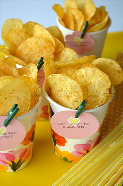 Single cup chips snack fiesta ideas in 2019 comida - Comidas de cumpleanos infantiles ...