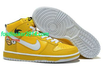 cheap for discount 97e10 e28ce Nike Dunk High Tops For Men Nike Dunks Angry Birds Yellow  Custom  Nike   Dunks