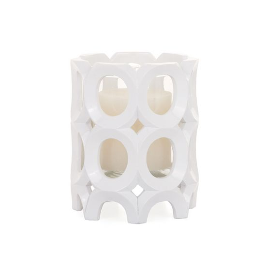 Best Deco Ring Candle Holder White Short Contemporary 400 x 300