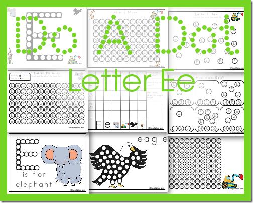 Do A Dot Letter Ee Printables