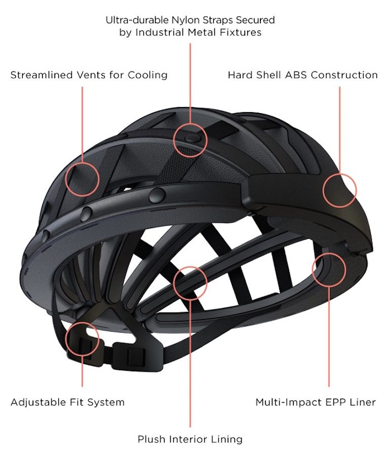 Collapsible Bicycle Helmet Folds To One Third Its Size For Effortless Storage After Your Ride