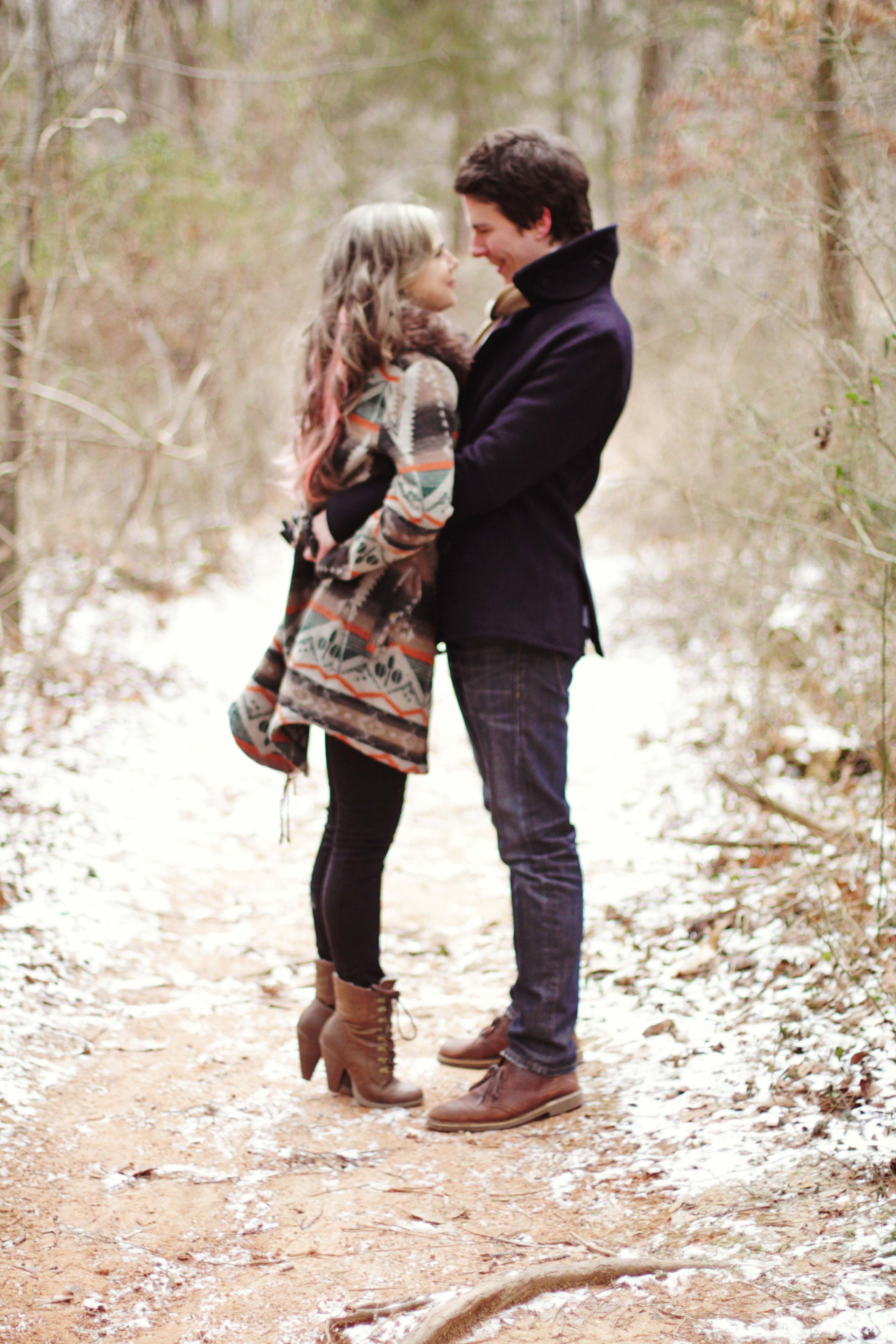 Josh and Eliza l Engaged Winter engagement pictures