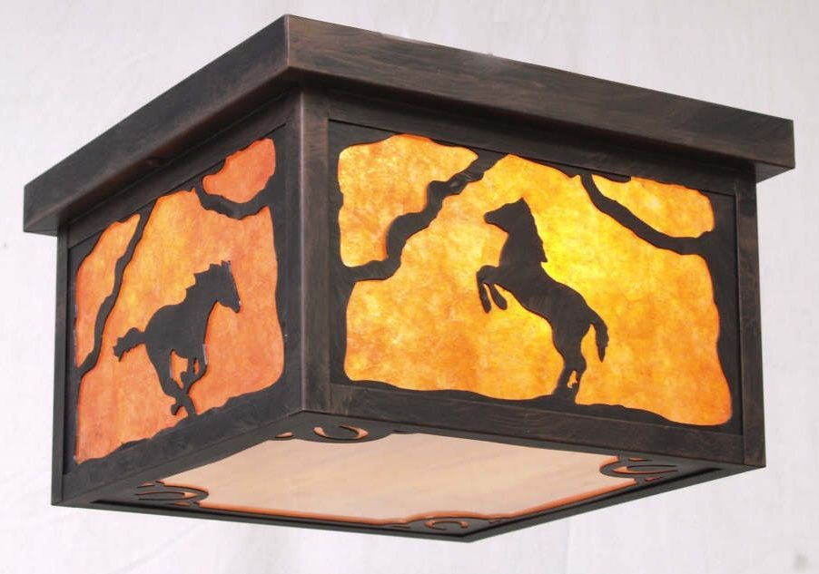 Copper Canyon Series – Western Lighting - Horseshoes Bottom Panel Design