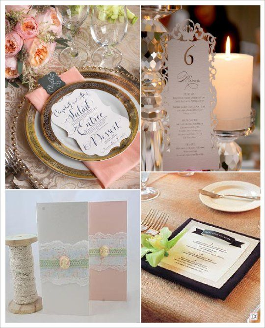 menu mariage baroque decoupe carte dentelle papier. Black Bedroom Furniture Sets. Home Design Ideas