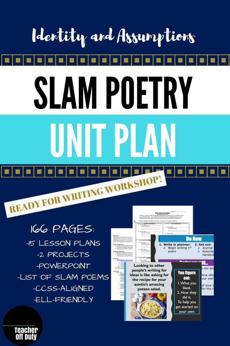 slam poetry unit plan--middle-high school   poetry   pinterest