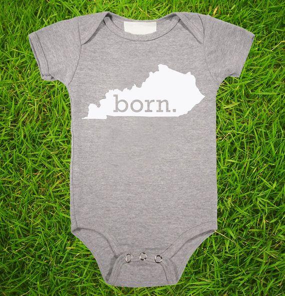 20aaea950 Kentucky Home State BORN Unisex Baby Onesie - Boys or Girls via Etsy ...