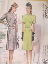 Vintage 40's McCALL'S 6050 DRESS -Day*Evening*Wedding- Sewing pattern