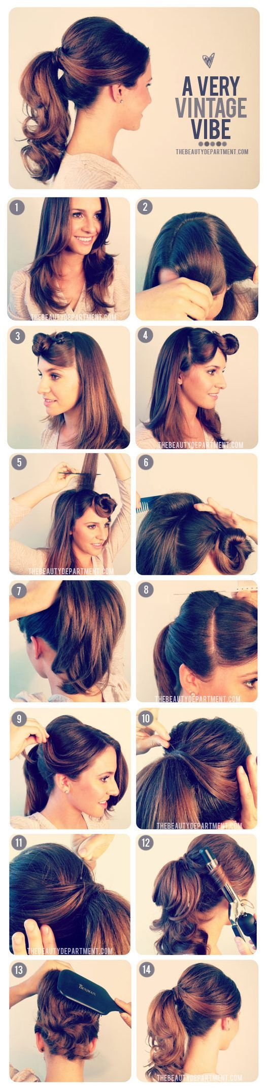 1950s Inspired Ponytail Tutorial Cute Pony Tail Hairstyle Cute