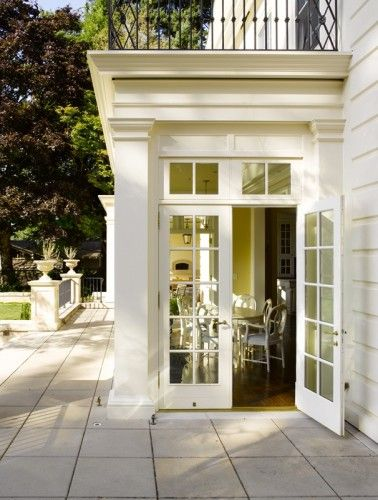 Bump Out With French Doors Transoms Beautiful Exterior Trimwork Traditional House House Exterior Architecture House