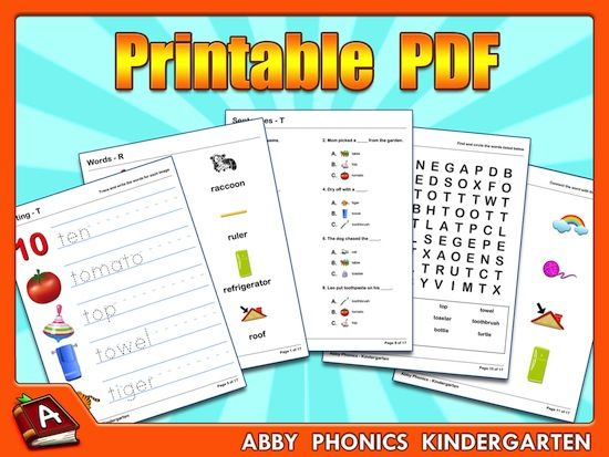 Common Worksheets Free Phonics For Kindergarten Preschool and – Free Printable Worksheets for Kindergarten Phonics
