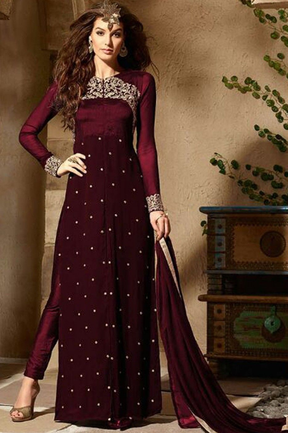 Salwaar Kameez Indian//Pakistani Anarkali Designer Straight Readymade Suit/_G UK