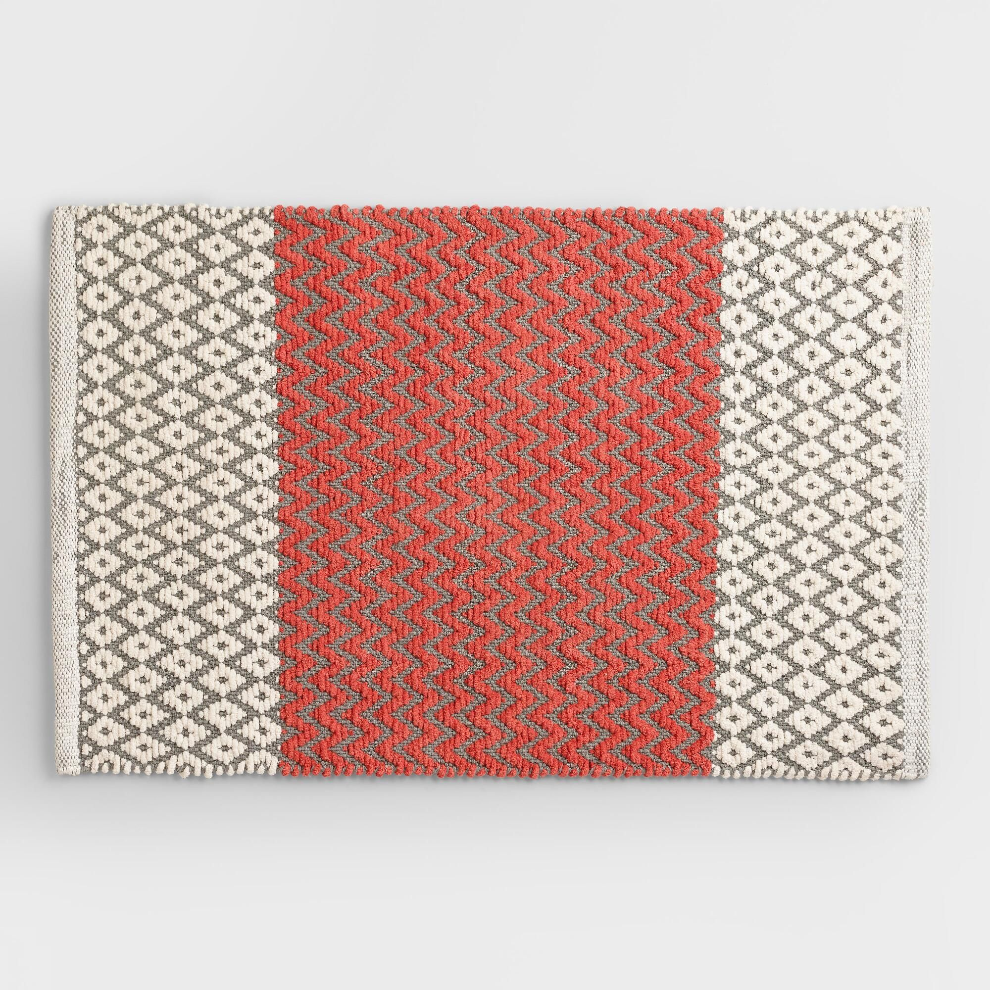 Red And Tan Bathroom Rugs