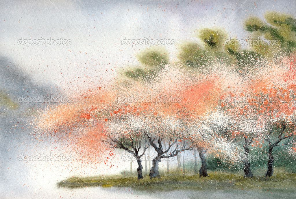 Gallery For Gt Japanese Watercolor Landscape Paintings With