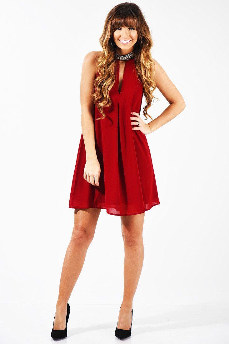 Kiss At Midnight Dress: Garnet