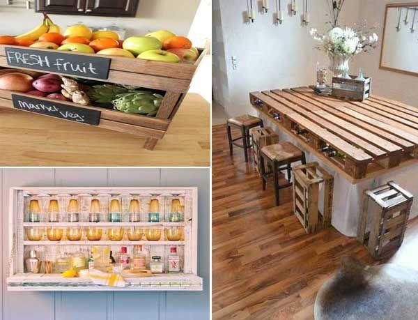 10 ideas para hacer una mesa con palets de madera mesas - Mesa de palets ...