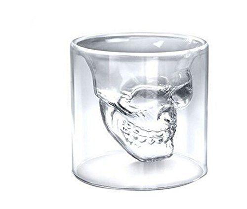 SMO 4x Verre Alcool « Tete Mort » Head Shot Skull Crystal Glass ...