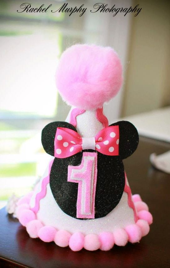 86bab4a7bb347 Minnie Mouse Clubhouse Inspired - Pink and White - Custom Birthday Party Hat    Headband (pick you colors).  13.95