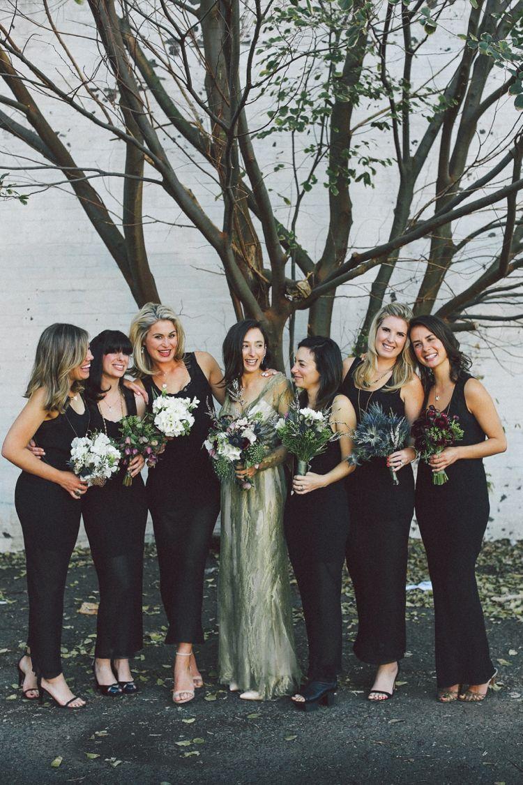 Hayley Luke Lara Hotz Photography Bridesmaids Jumpsuits Gold Wedding Dress Bridesmaid [ 1125 x 750 Pixel ]