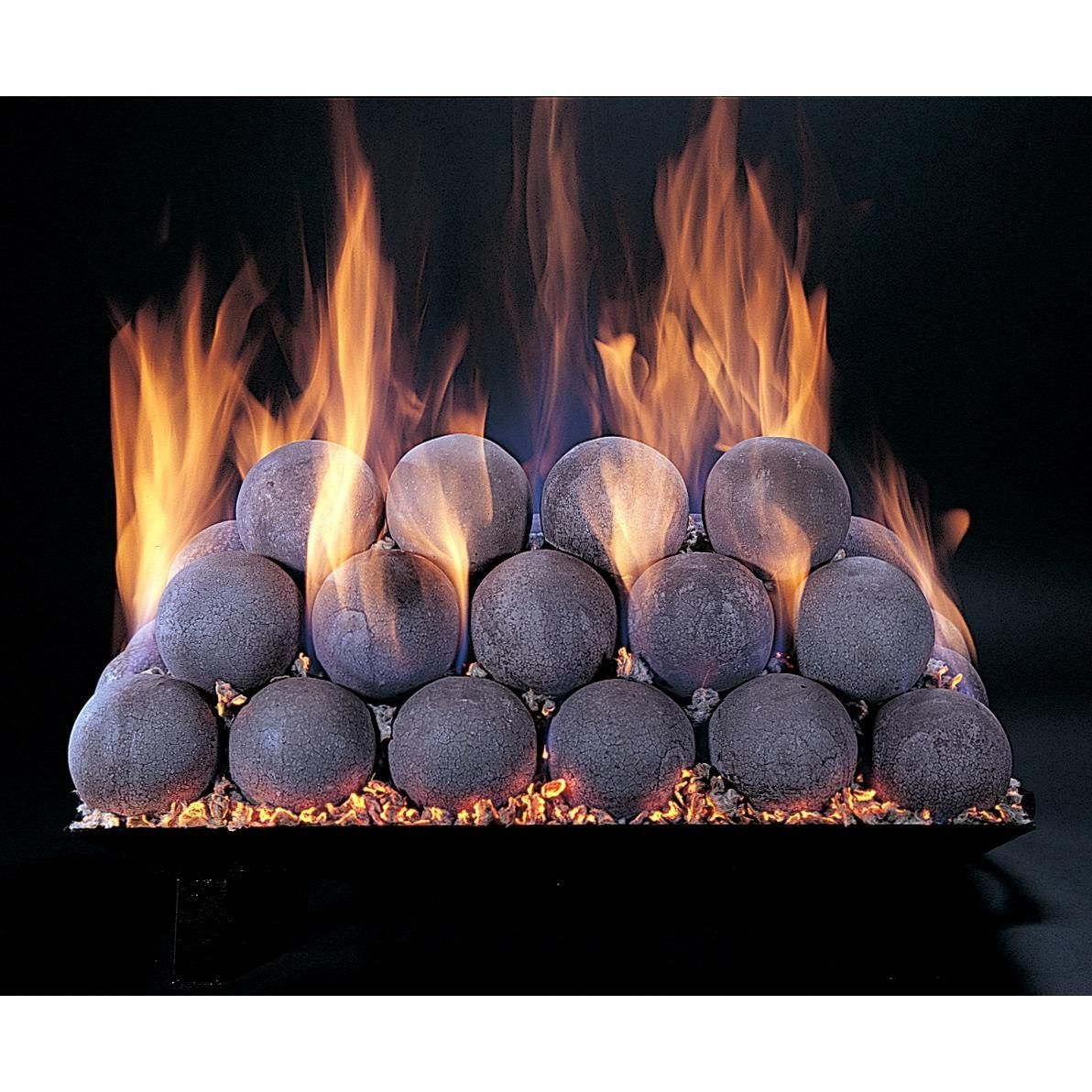 rasmussen 24 inch natural fireball set with vented custom embers