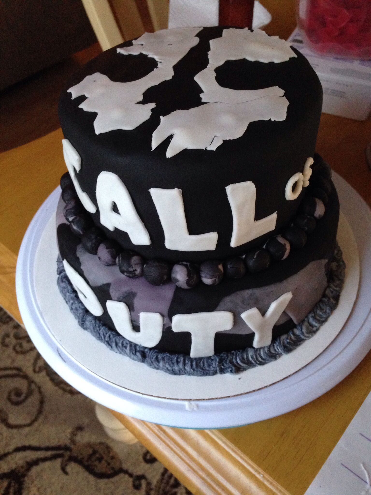 Call of duty ghosts cake ghost cake 13th birthday